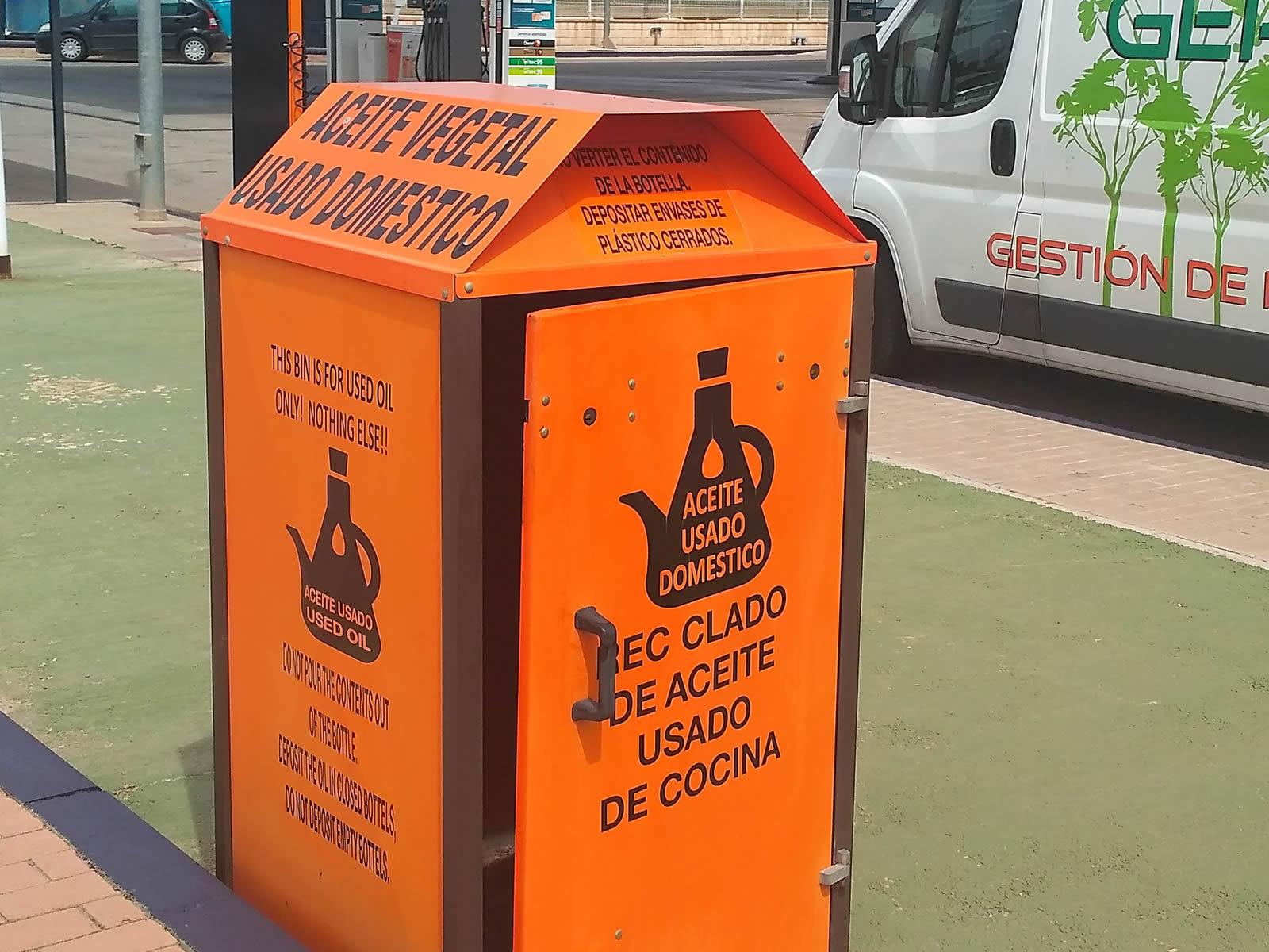 reciclaje de aceite de cocina usado gasolineras